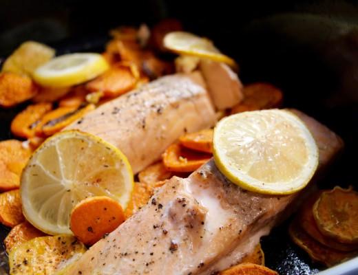 Lachs aus dem Ofen