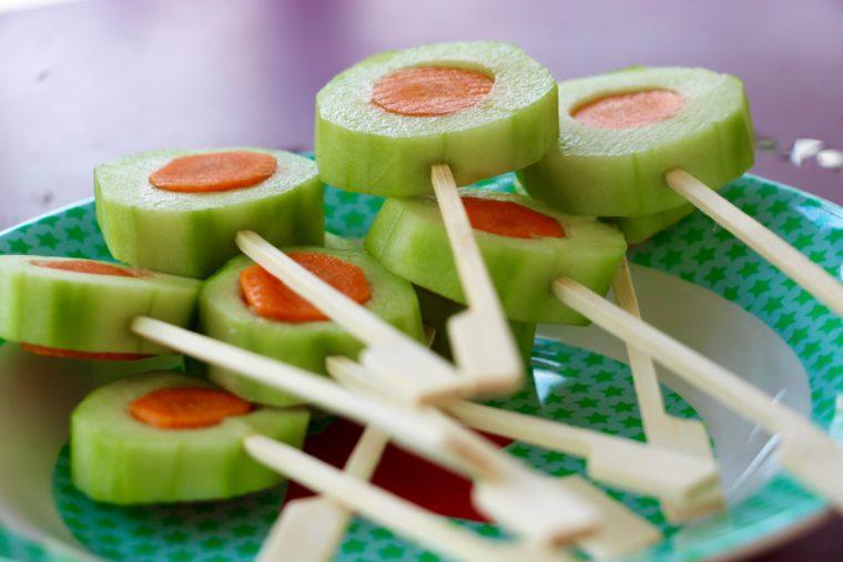 Gurken-Karotten-Lollies | Aktion Kleinkind-Ernährung