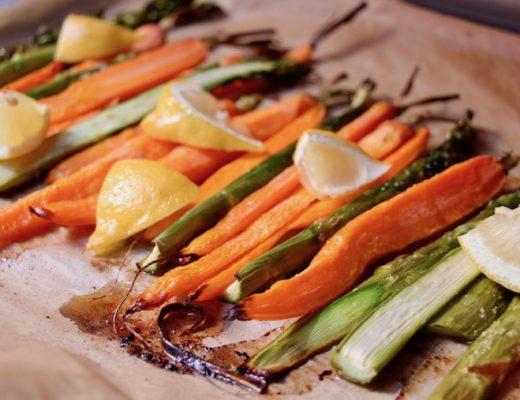 Spargel und Karotten