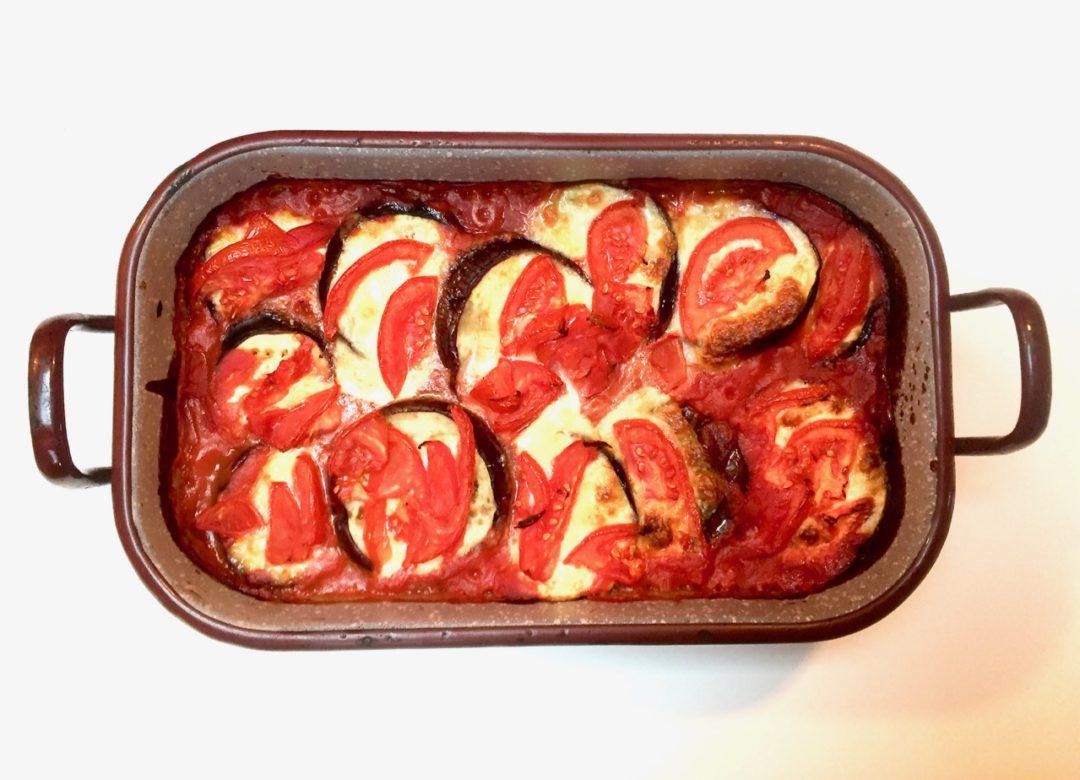 Parmigiana-Auflauf mit Auberginen