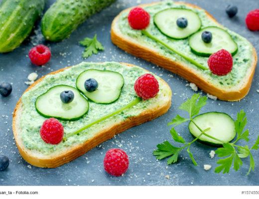 Brote für Kinder im Frosch-Format