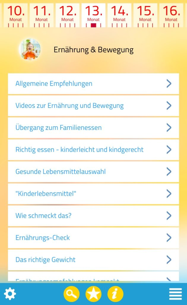 Screenshot App Kind & Essen