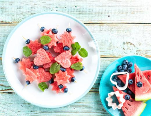 Wassermelone in Stücken als Snack