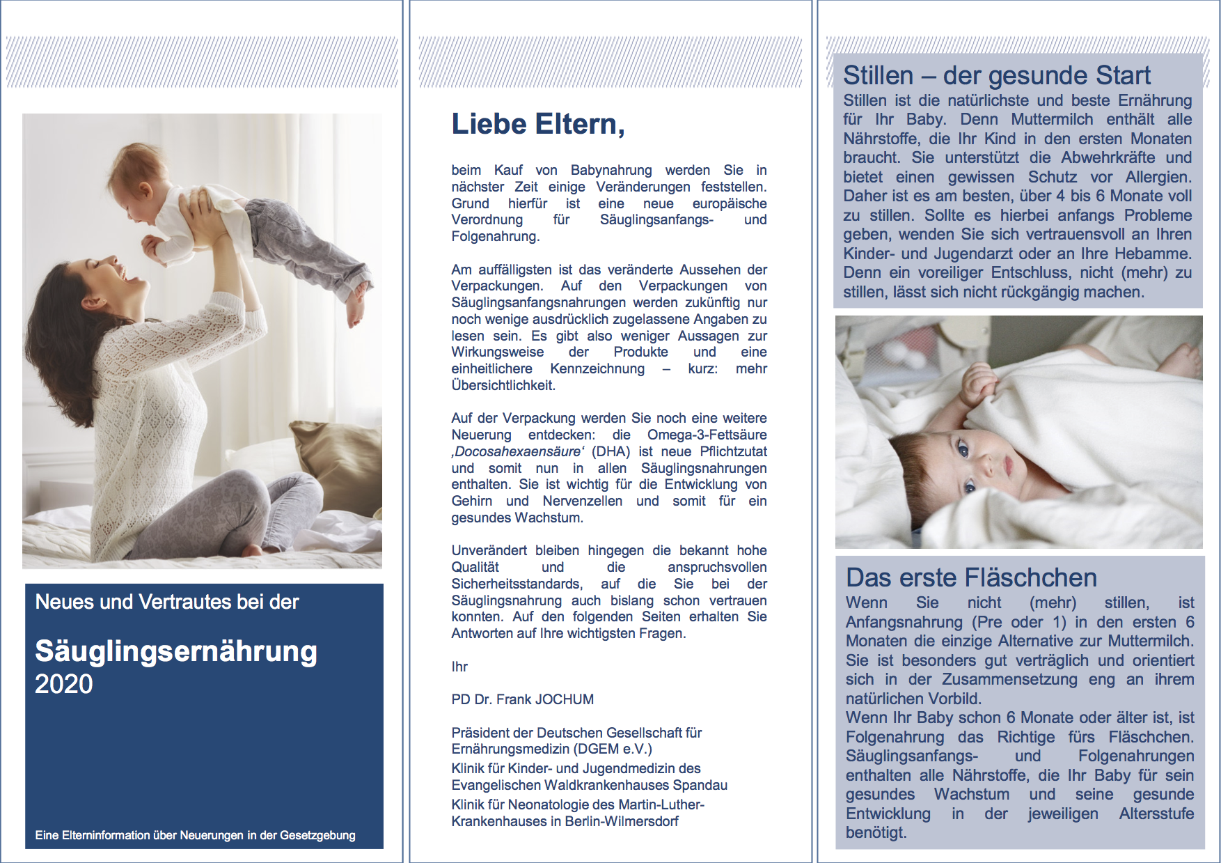 Info-Folder zur Neuregelung Säuglingsnahrung
